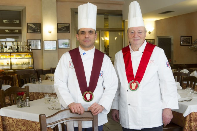 The professionalism of Vittorio was acknowledged in 1997 when he obtained Collegium Cocorum recognition, a much-prized honour in Italy's restaurant world. In 2013 also Massimiliano was honoured with Collegium Cocorum reward.